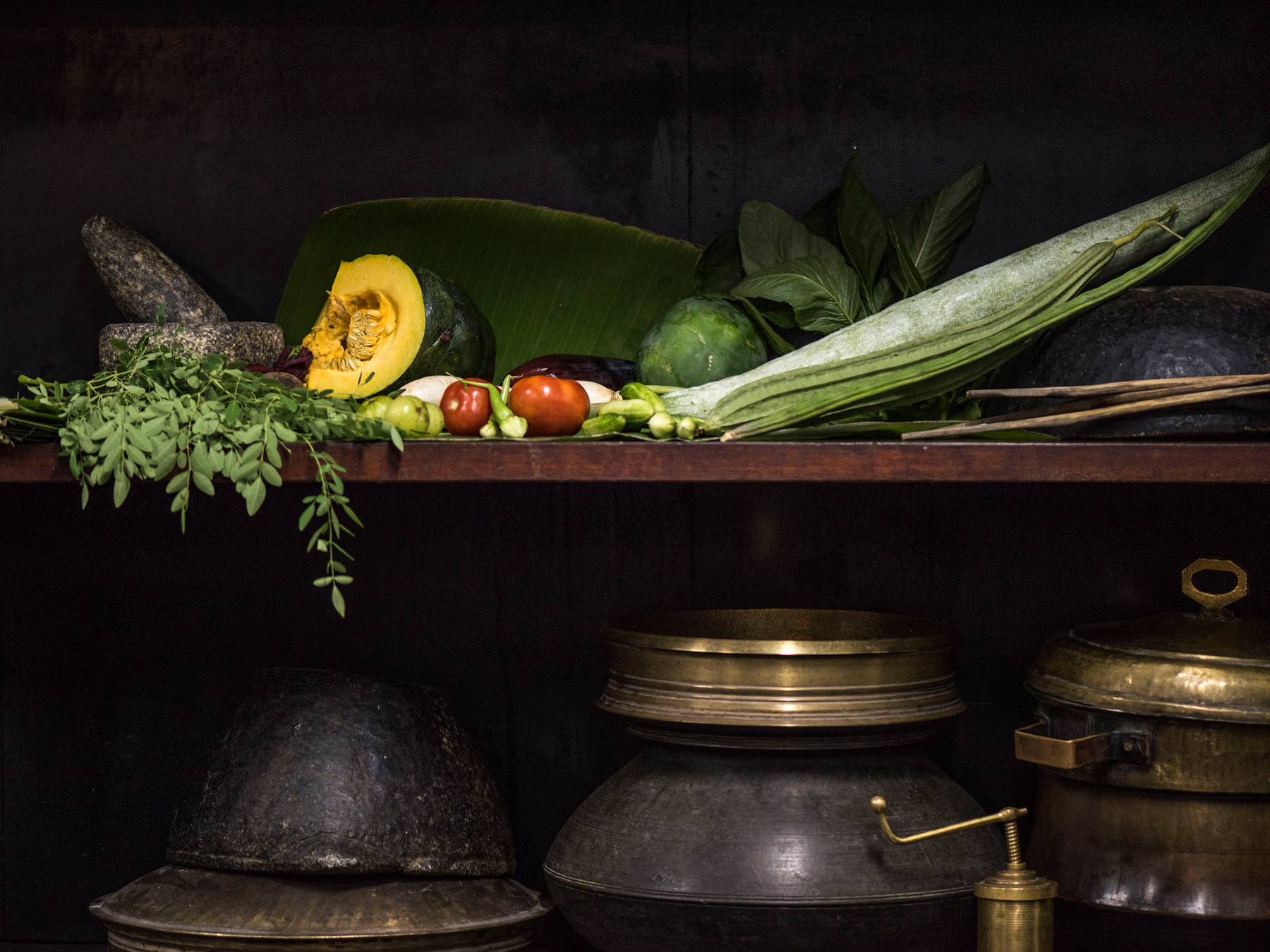 Ingredients for Ayurvedic food used for healing treatments